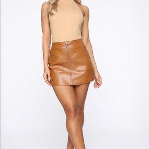 Fashion Nova Faux Leather Mini Skirt Skort
